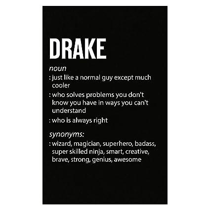 Amazon.com: Inked Creatively Drake Name Meaning Xmas ...
