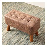 LSDIJFH Change Shoe Bench Change Shoe Bench, Solid Wood Sofa Bench, Modern Minimalist Clothing Store Bench, Shoe Store Fitting Room Rest Bench (Color : Light Brown, Size : 60×28×33cm)
