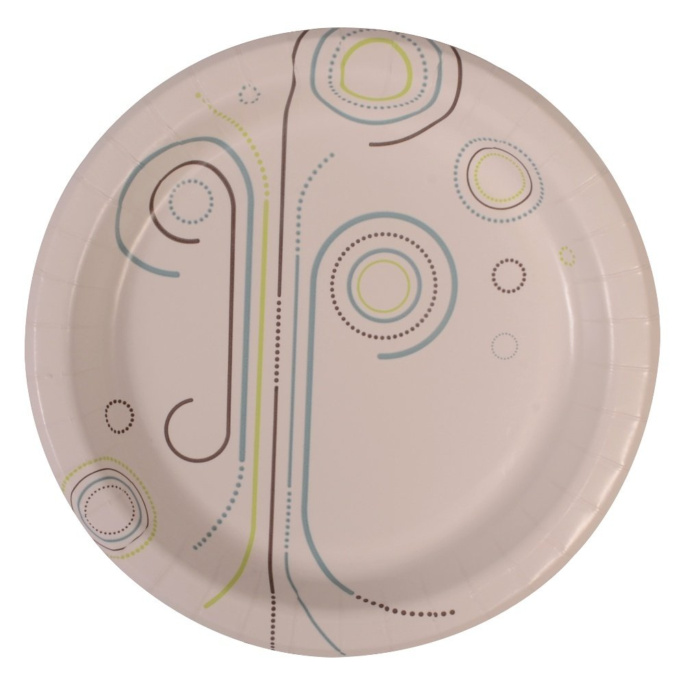 Perfectware Plate 8 Everyday- 125 Coated Paper Plates for Everyday Use, 0.1'' Height, 8.5'' Width, 8.5'' Length (Pack of 125)
