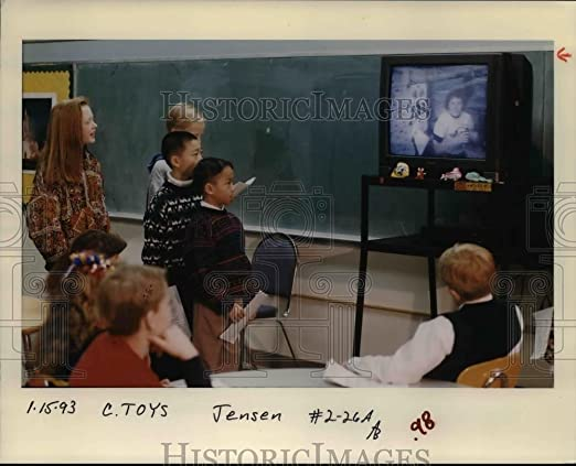 1993 prensa fotos afeitadora escuela primaria, Susan Helms ...