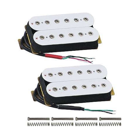 FLEOR Alnico 5 guitarra pastilla Humbucker doble bobina guitarra pastillas para guitarra eléctrica parte de repuesto