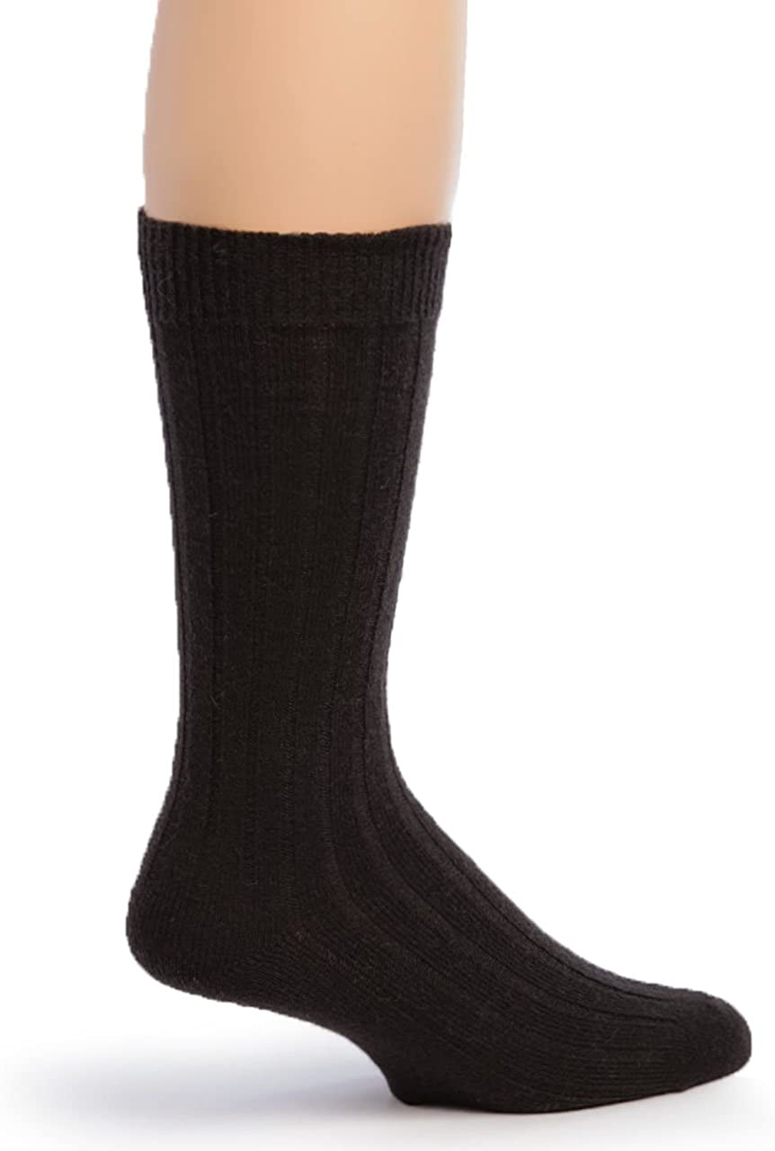 Warrior Alpaca Socks - Men's Superfine Alpaca Wool Ribbed Dress Socks for Dry Feet & Everyday Wear