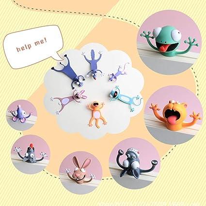 MNJM Wacky Bookmark f/ür mehr Spa/ß beim Lesen von 3D-Stereo-Cartoon Lovely Animal Bookmark Wacky Bookmark