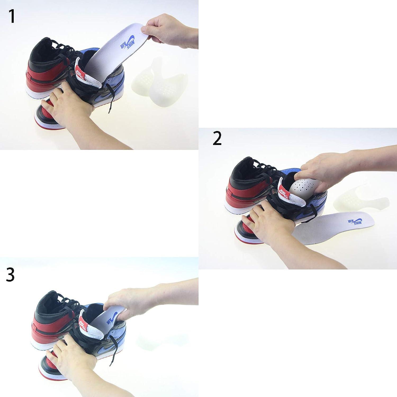 Uomo dellUE 40-46 Donna 35-39 Prevenzione Della Piega Delle Toebox Anti Rughe Protezione per Scudi Toe Box Decreaser YUEMING 2 Paia Scarpe Antirughe Scudi Protettori