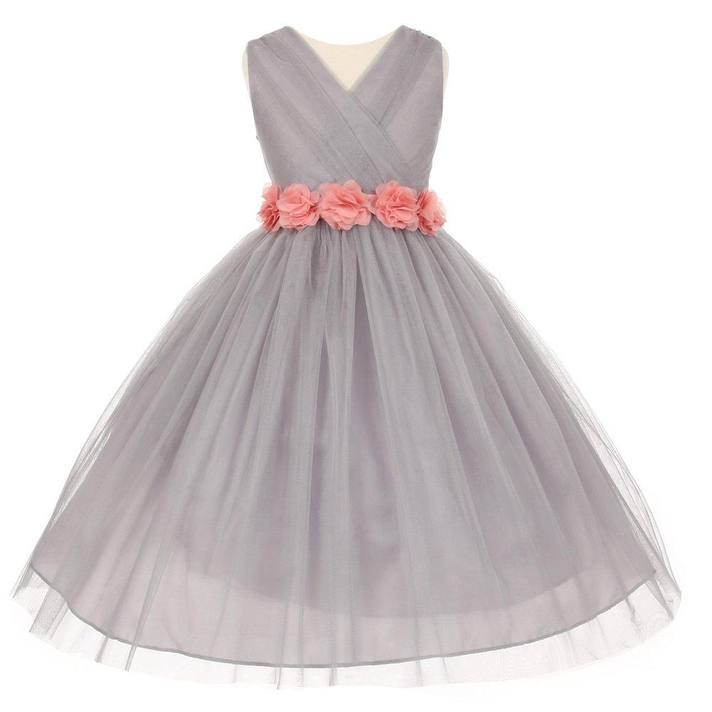 b1594fbe62 Silver Chiffon Flower Girl Dresses - Data Dynamic AG