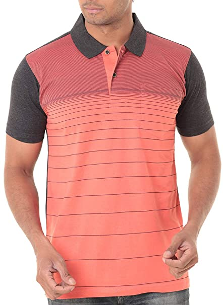 dfe075900c5 WEXFORD Men s Half Sleeve Polo Neck Printed Casual T-Shirt - WEX-WFE028A   Amazon.in  Clothing   Accessories