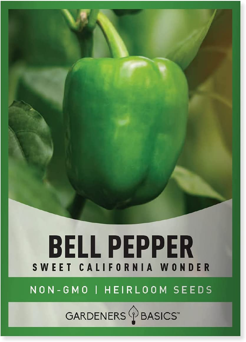 California Wonder Bell Seeds for Planting Garden Heirloom Non-GMO Seed Packet with Growing and Harvesting Peppers Instructions for Starting Indoors for Outdoor Vegetable Garden by Gardeners Basics