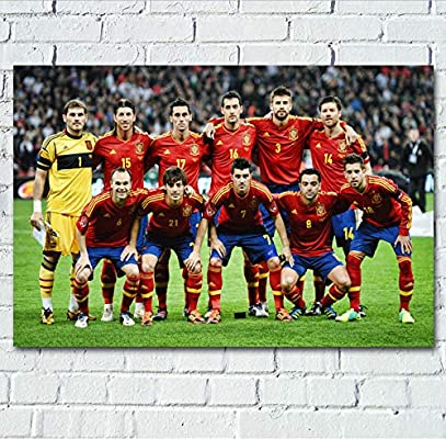 NOVELOVE Imagen de Arte de Pared Fútbol Deportes España Equipo de ...
