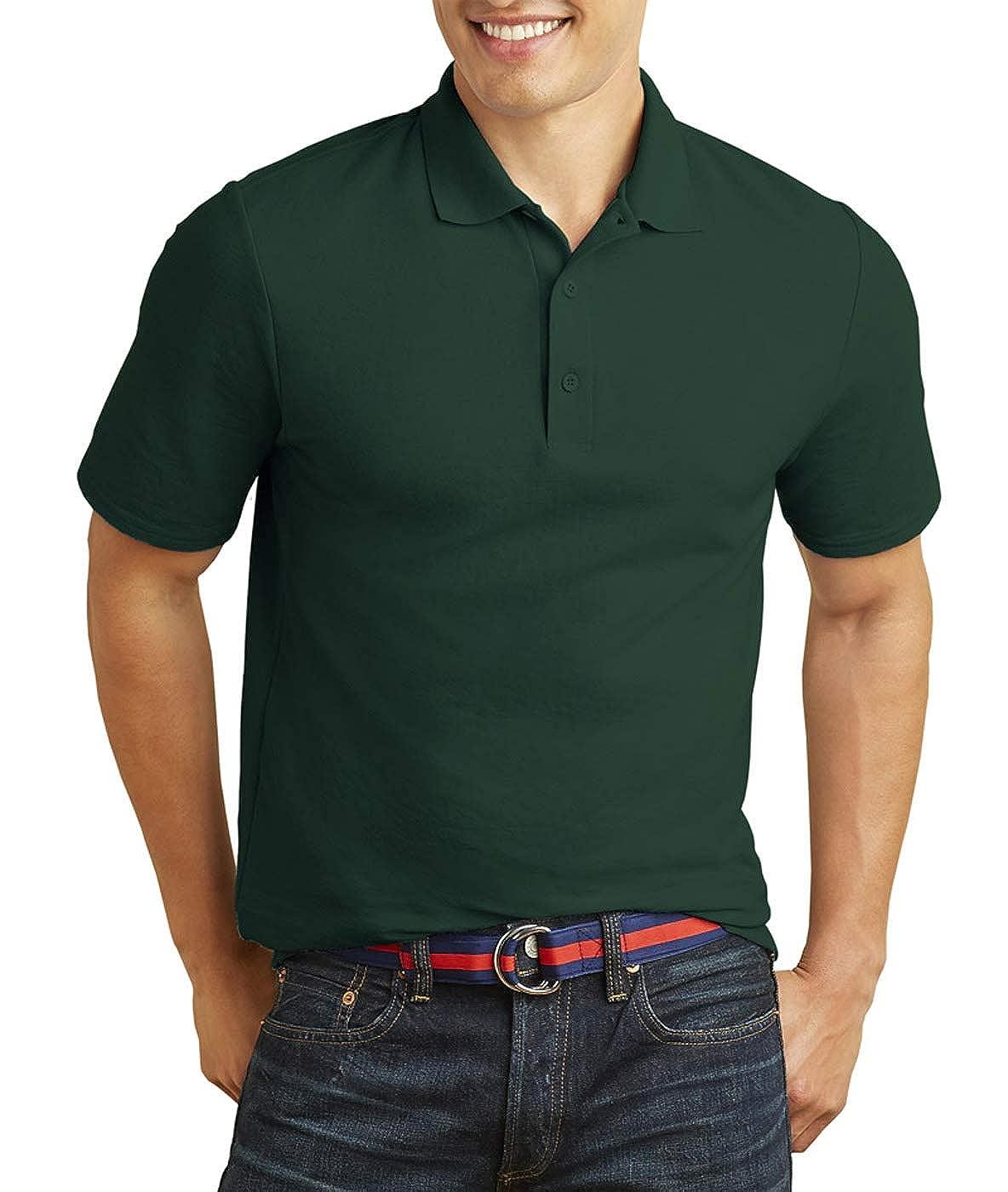 Double Piqu/é Sport Shirt Gildan Mens DryBlend 6.3 oz -FOREST GRE -XL-12PK G728
