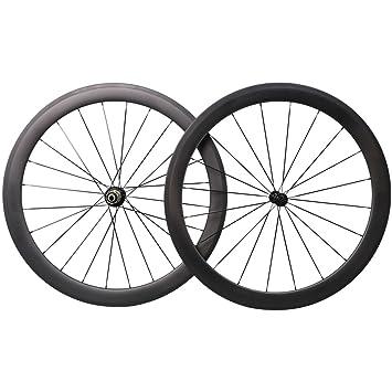 50mm Aero 700C Carbono Bicicleta Carretera Ruedas Clincher Racing Bicicleta Ruedas: Amazon.es: Deportes y aire libre