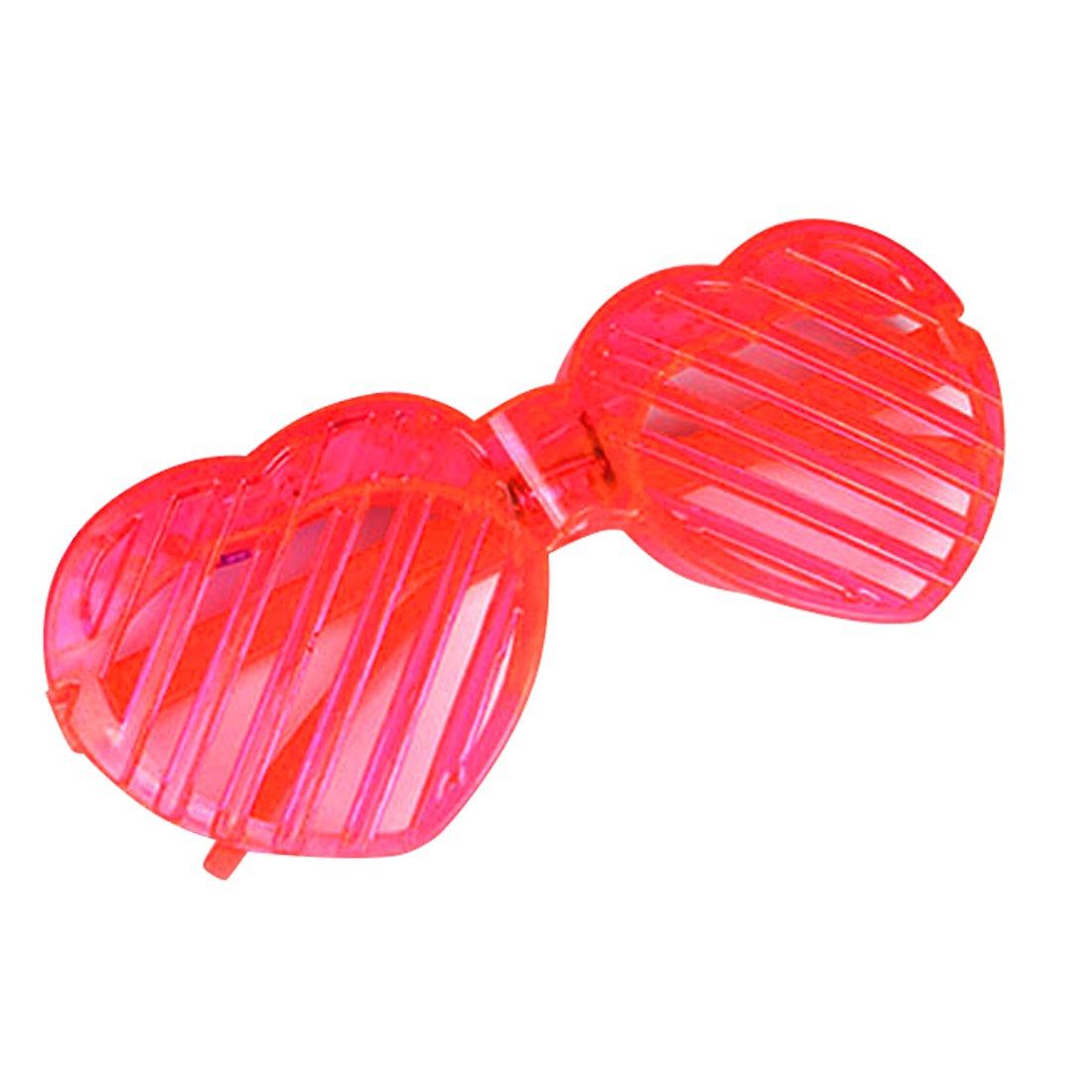 Led Light Glasses for Flash Party Halloween Christmas Luminous Decor Red Heart Luwu-Store