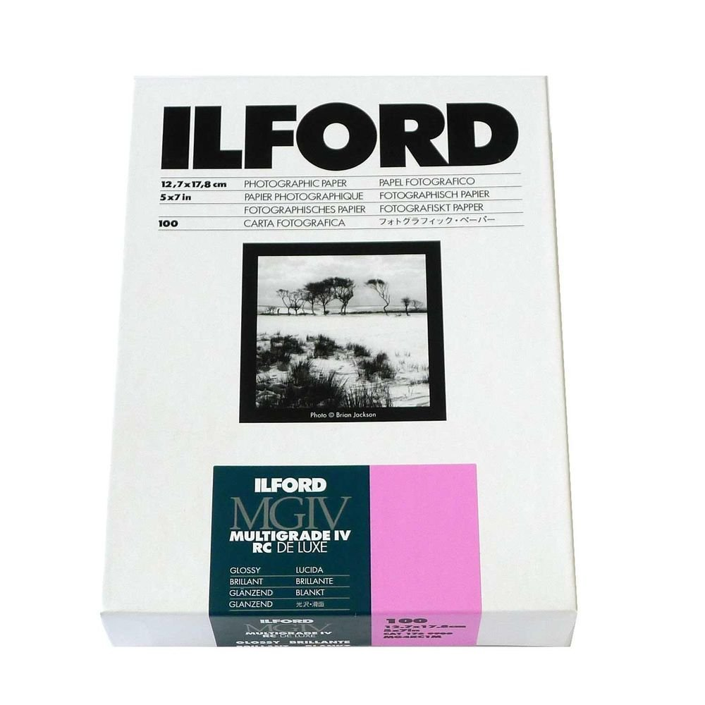 Ilford Multigrade IV RC Deluxe MGD.1M Black and White Variable Contrast Paper (5 x 7 Inches, Glossy, 100 Sheets) (1769900 )