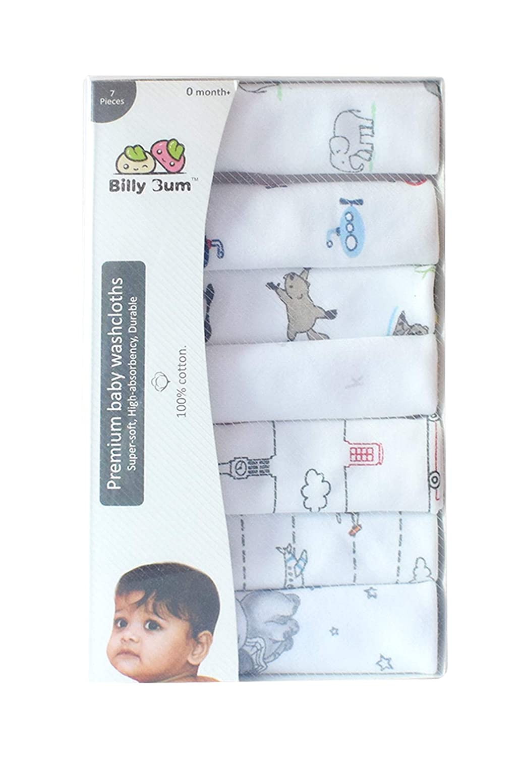 Hosiery Cotton/Reusable Towels washcloth for Babies