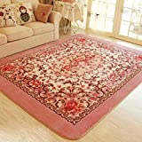 MeMoreCool Romantic European Style Floral Pink Area Rugs for Living Room,Wedding Room/Bedroom Tea Table Footmats...