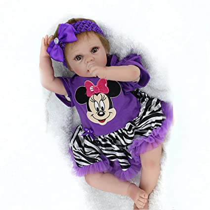 amazon com real looking baby dolls newborn reborn baby girls 18inch