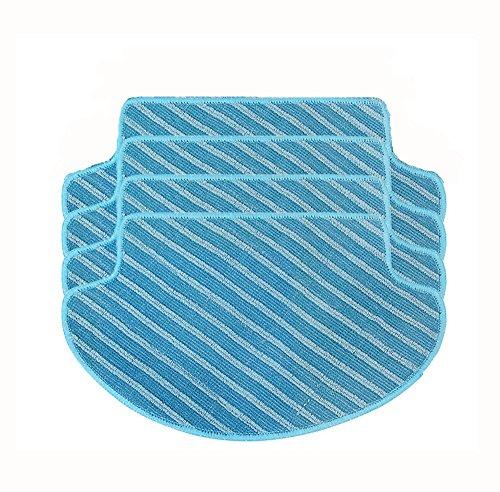GIBTOOL 4-Pack Washable Wet & Dry Replacemnet Microfiber Mop Pad for DEEBOT DN78(Water Tank Version) DM80 DM80 Pro DM81 DM85S DM88 DR95 DR96 DR98 Slim Slim2 Robotic Vacuum Cleaner