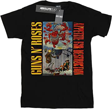 Guns N Roses hombre Appetite Banned Camiseta Small Negro: Amazon.es: Ropa y accesorios