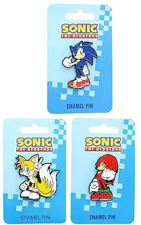 Amazon com: Sonic The Hedgehog Enamel Collector Pin Set of 3