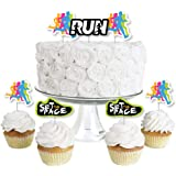 Sports LT1169 Marathon Party Track Events Runner Personalize Party Decor Track and Field Olympic Party Track Cake Topper Keepsake