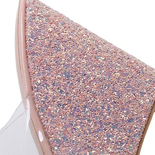 Damer Strappy Sandaler Kiler Gzsl-063-127 Hule Sequined Kile Hæl Høje Hæle Sko Komfortable, Kjjde Lyserød