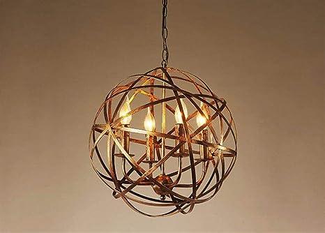 YOZOOE Iron Art Orbs 42 * 42Cm Lámpara de Techo Lámpara de ...