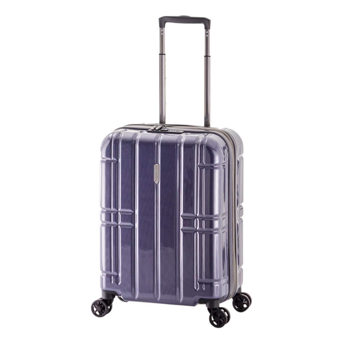 [アジアラゲージ] スーツケース|機内持ち込み 47L 47.5cm 2.9kg ALI-MAX185|拡張 B07RL5Q37R カーボンネイビー