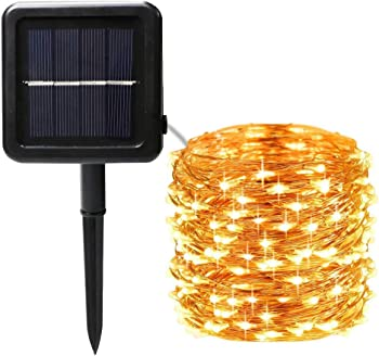 BHCLight 200-LED 65.3-Foot Solar String Lights