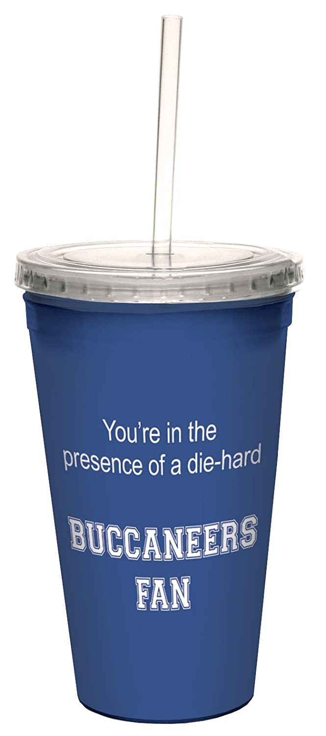 Tree-Free Greetings cc34665 Buccaneers College Basketball Artful Traveler Double-Walled Cool Cup with Reusable Straw 16-Ounce