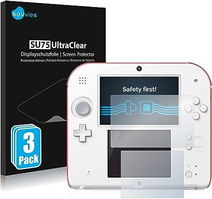 savvies Protector Pantalla Compatible con Nintendo 2DS (6 Unidades ...