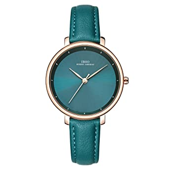 IBSO Ladies Watches Leather Band Round Case Fashion Women Watches on Sale relojes Mujer (6606B