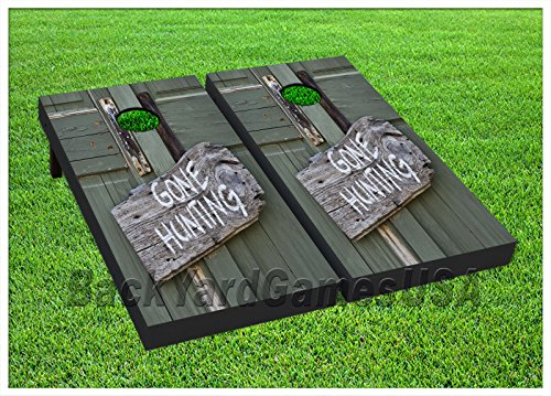 Hunting Cornhole Beanbag Toss Game W Bags Game Boards Deer Hunter Gift Set 1039