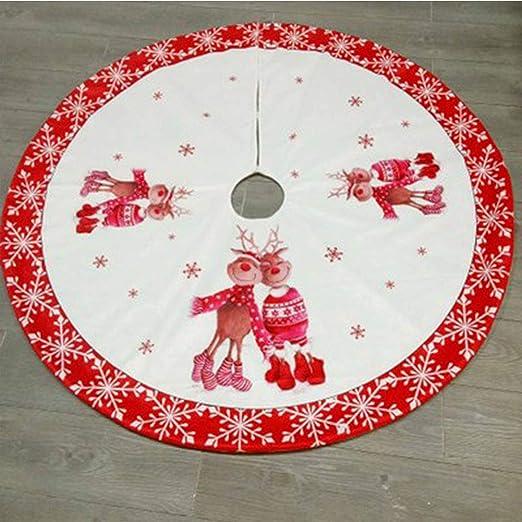 Alian Falda del árbol de Navidad, Falda Personalizada Feliz ...