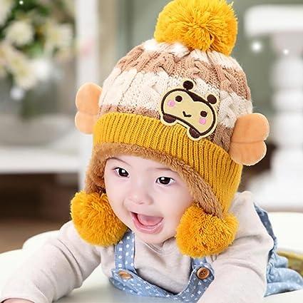 YINGER Sombrero de punto recién nacido Gorra Lindo diseño Invierno Calentar  Lana Unisexo  a24f8a2c871