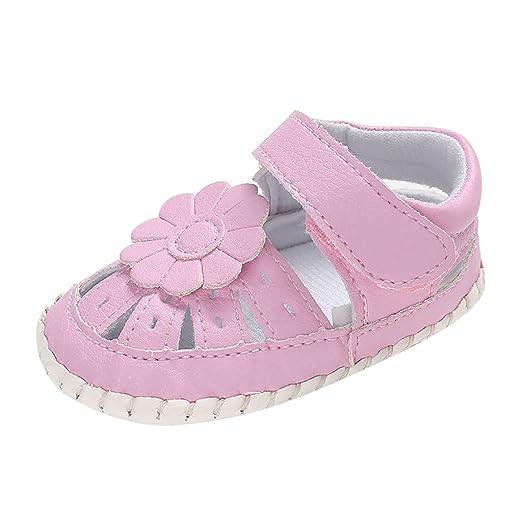 491dcc423f8a1 Amazon.com: NUWFOR Baby Girls Big Flower Decorative Soft Bottom ...