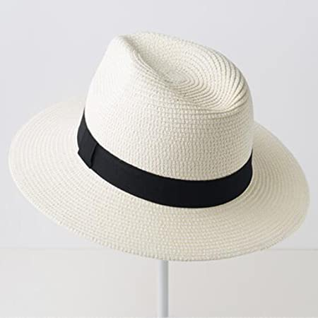 f52eac802fb99 YXINY Sun Hats Couple s Women s Fashion Leisure Straw Hat Vacation hat Sun  Protection Wide Brim Caps (color   Off white)  Amazon.co.uk  Kitchen   Home