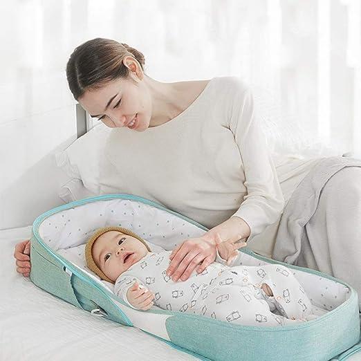 Baby Nest Sicherheit Isolation Atmungsaktiv F/ür Schlafzimmer Reisen Camping hinffinity Tragbare Babybett Baby Bionic Bett Travel Cradle Faltbare Krippe Mit Abwaschbaren Abnehmbaren Moskitonetz