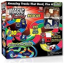 Ontel Magic Tracks Rescue Race Car Set, Multicolor, 10'