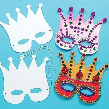 Basteln Für Fasching masken zum basteln und ausmalen krone königin prinzessin für