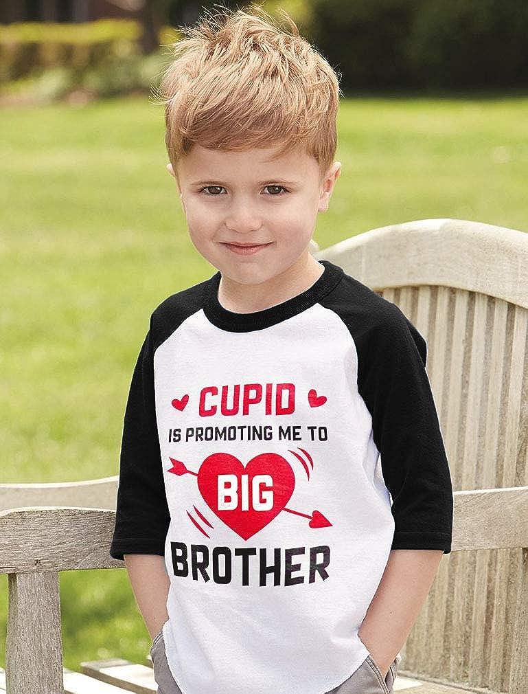 Cupid is Promoting Me to Big Brother Toddler Raglan 3//4 Sleeve Baseball Tee