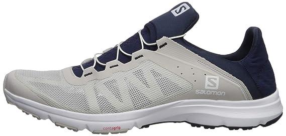 Salomon Amphib Bold Trail Laufschuh Herren weißdunkelblau, 12.5 UK 48 EU 13 US