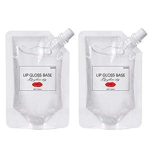 Ownest 2 Pcs Moisturize Lip Gloss Base,Lip Gloss Base Oil Material Lip Makeup Primers, Non-Stick Lipstick Primer Lip Gloss Base for DIY Handmade Lip Balms Lip Gloss-200g