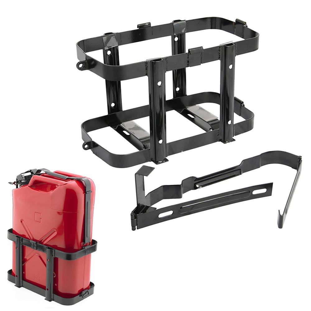 Noryb Metal Jerry Can Fuel Holder Fits 10 /& 20 Litre Petrol Diesel Containers 4x4