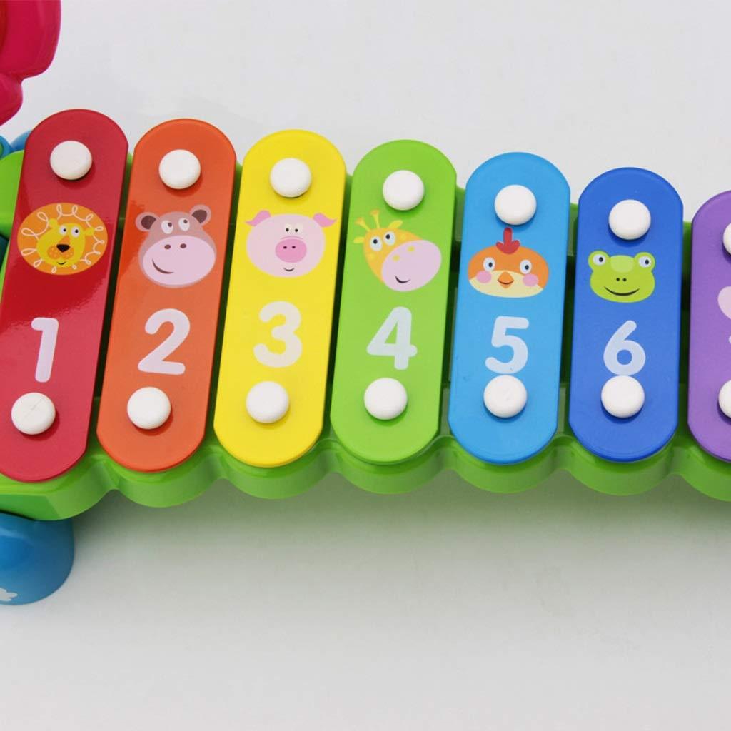 HXGL-Klopfen Sie am Klavier Klopfen an der der der Oktave Plastikspielzeug Früherziehung Puzzle Junge Mädchen Musik Hand klopfen Geschenk (Farbe : Bunte) a19803