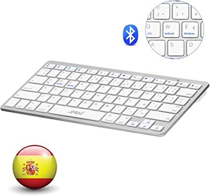 YZPUSI Bluetooth 3.0 Inalámbrico Wireless Teclado, Ultra Slim y ...