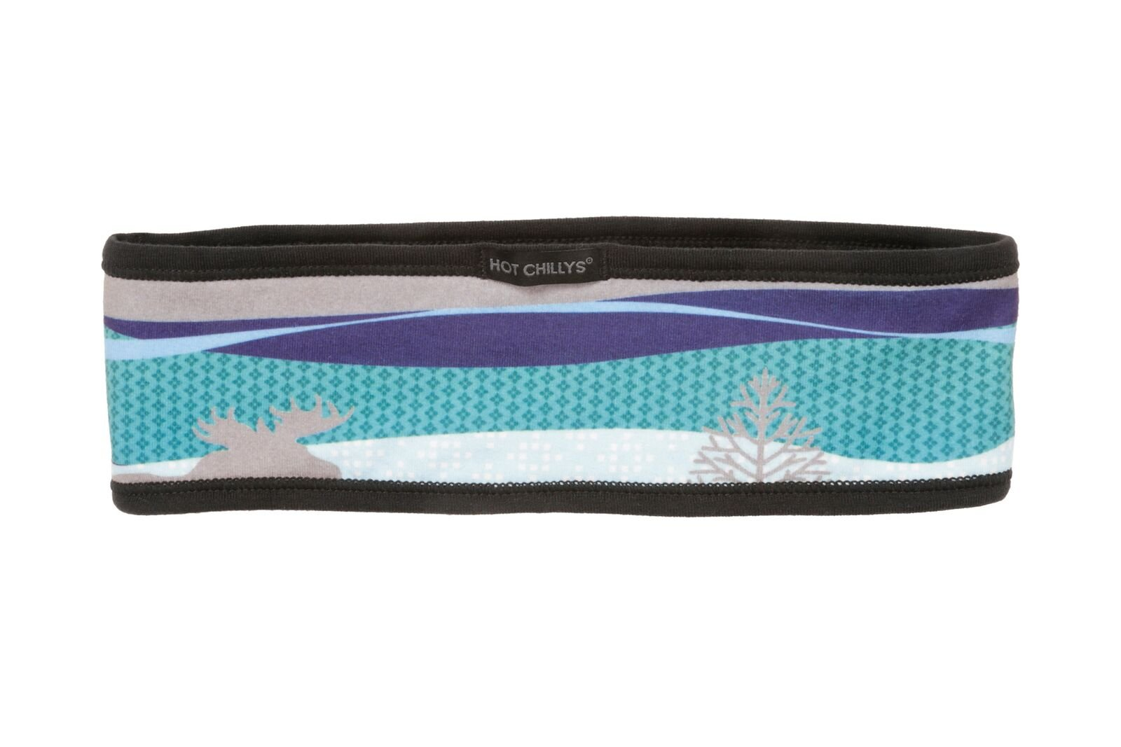 Hot Chillys Women's MTF4000 Sublimated Print Headband, Snowy Woods/Black - OS by Hot Chillys