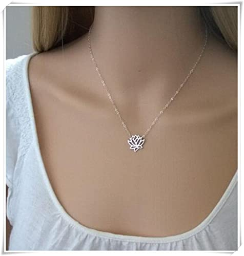 Sterling Silver Lotus Necklacesilver Lotus Flower Necklace Amazon