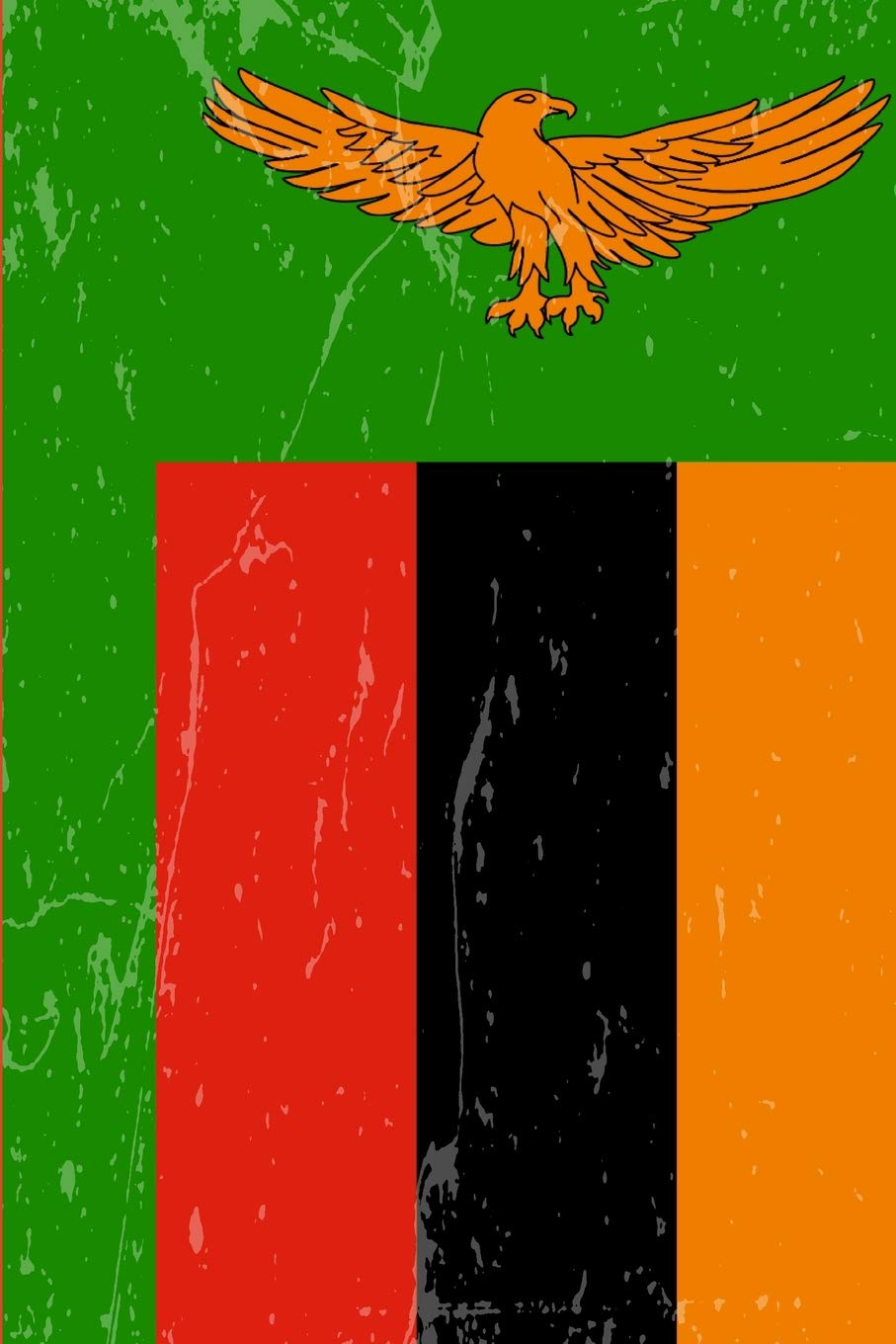 Zambia Flag Journal: Blank lined Notebook to write in