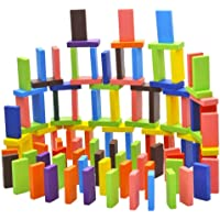 ArtBee Colorful Wooden Domino Set for Kids Colourful Wooden Dominos Toy Colourful Wooden Blocks (240 Pcs)