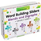 Really Good Stuff Word Building Sliders: Blends and Digraphs - 27 Sliders