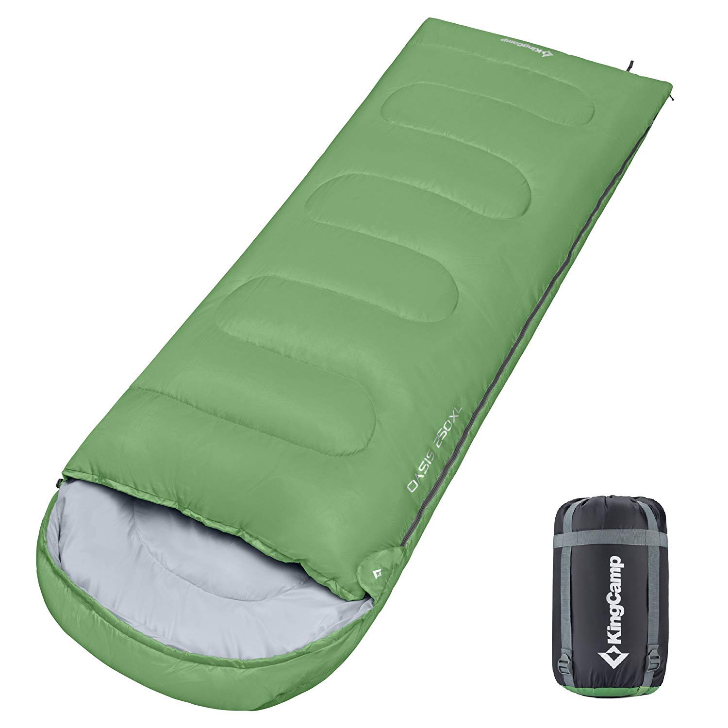 KingCamp Envelope Sleeping Bag 3 Season Lightweight Comfort Portable Great for Adults Kids Camping Backpack Hiking with Compression Sack Extreme Temp Rating 26F/-3C by KingCamp